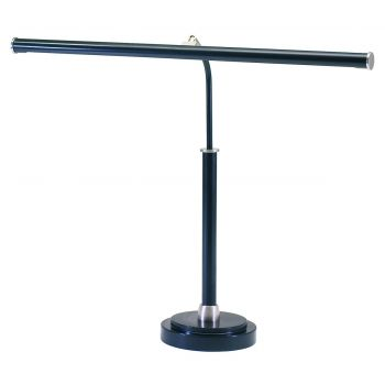 House of Troy LED Piano Lamp Black with Satin Nickel Accents
