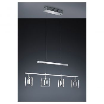 Arnsberg Tivoli LED Linear Chandelier in Chrome