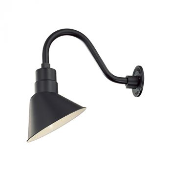 Millennium Lighting R Series 1-Light Angle Shade in Satin Black