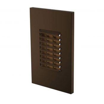 LBL Lighting Louver 1-Light LED Outdoor Step Light in Antique Bronze