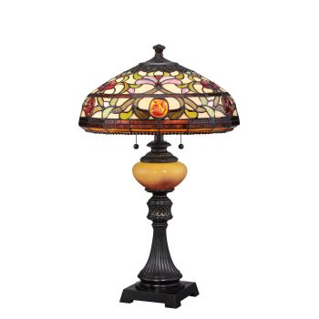 Quoizel Tiffany Jewel 2-Light Table Lamp in Imperial Bronze