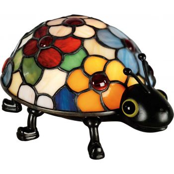 Quoizel Tiffany Ladybug Accent Lamp in Vintage Bronze
