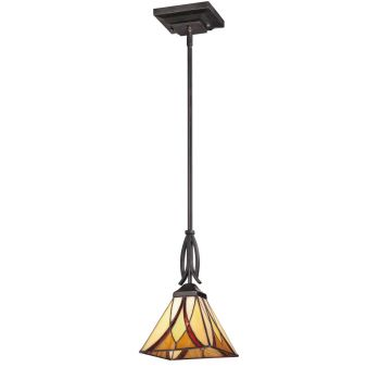 Quoizel Asheville 1-Light Mini Pendant in Valiant Bronze