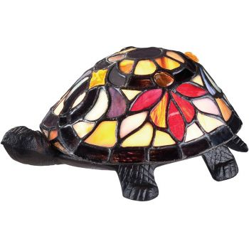 Quoizel Tiffany 1-Light Turtle Tiffany Accent Lamp