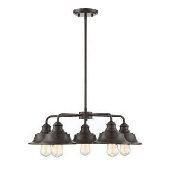 Trade Winds Lighting Vintage 5-Light Chandelier in Oil Rubbed Bronze