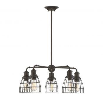 Trade Winds Lighting Industrial 5-Light Chandelier in Oil Rubbed Bronze