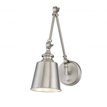 Trade Winds Lighting 1-Light Swing Arm Lamp (2-Pack) in Brushed Nickel