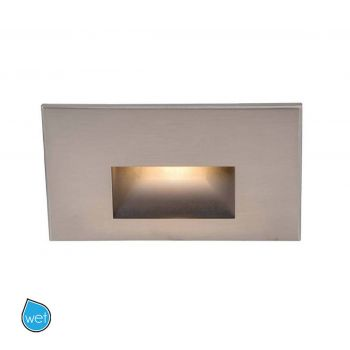 WAC LEDme Horrizontal Indoor/Outdoor Step & Wall Light in Brushed Nickel