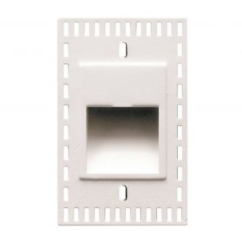WAC LEDme Vertical Trimless Step and Wall Light in White