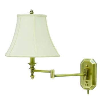 House of Troy Swing-Arm Wall Lamp in Antique Brass