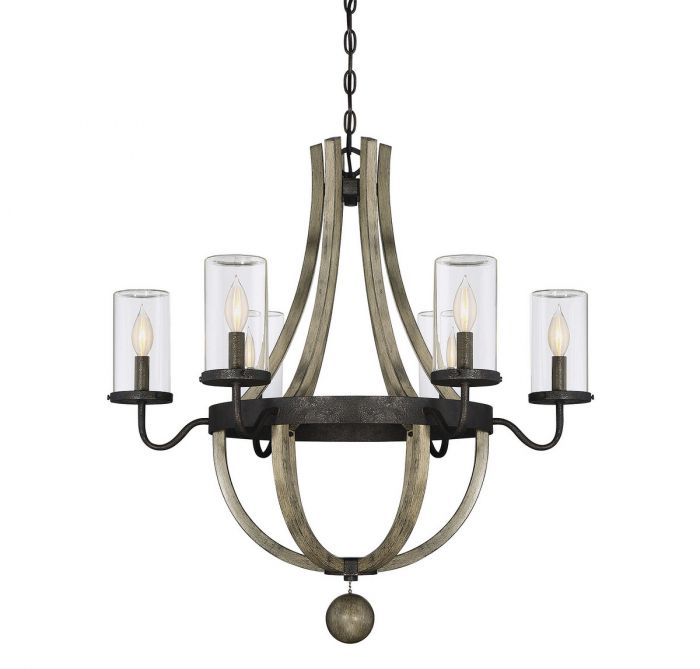 Savoy House Eden 6-light outdoor chandelier - LightsOnline.com