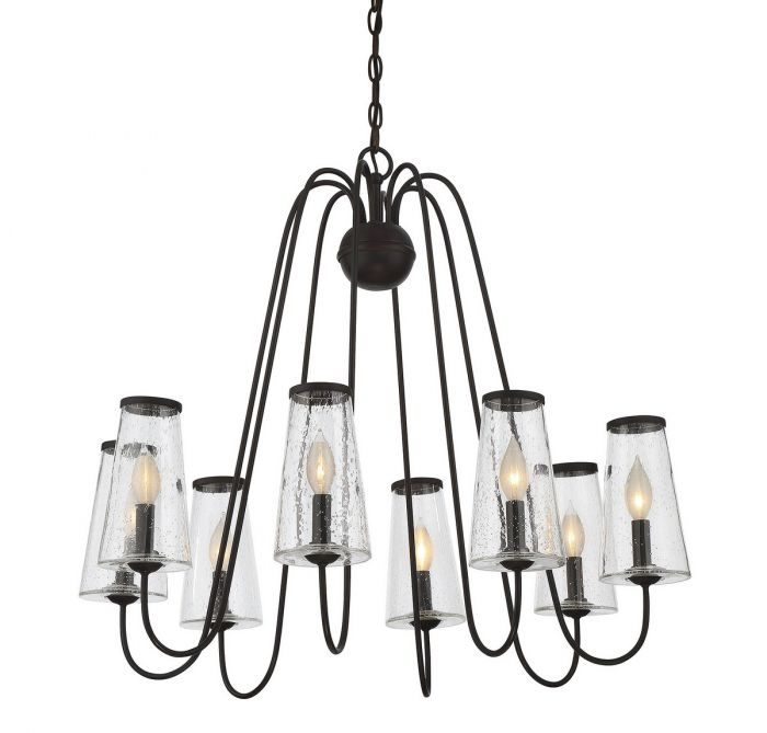 Savoy House Oleander 8-light outdoor chandelier - LightsOnline.com