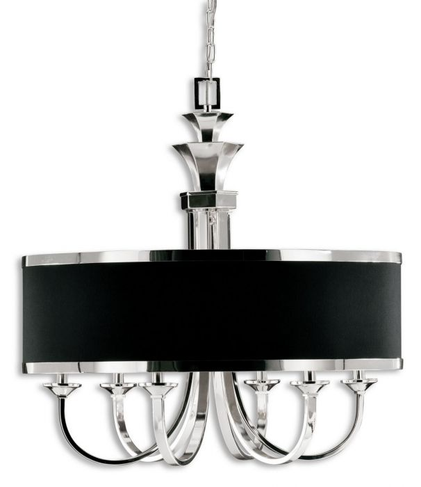 Skip to the beginning of the images gallery - Uttermost Tuxedo 6-Light Single Shade Chandelier - Transitional