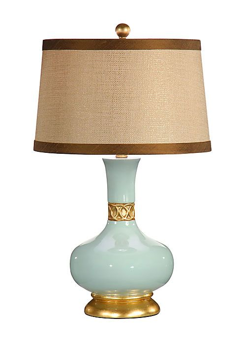 Wildwood Lamps Mimi Table Lamp In Breeze W.Brown Shade   Table Lamps   Lamps