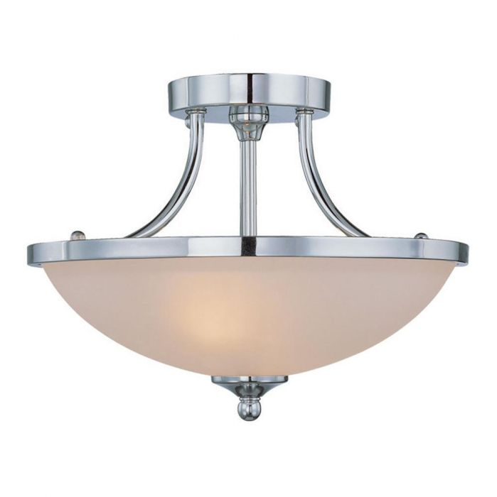 jeremiah spencer 2 light bowl semi flush mts in chrome semi flush