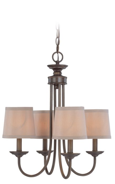 jeremiah lighting spencer 4 light up chandelier in bronze