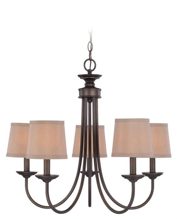 jeremiah lighting spencer 5 light up chandelier in bronze
