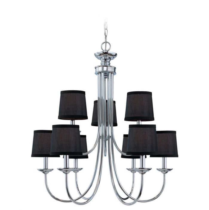 jeremiah lighting spencer 9 light up chandelier in chrome