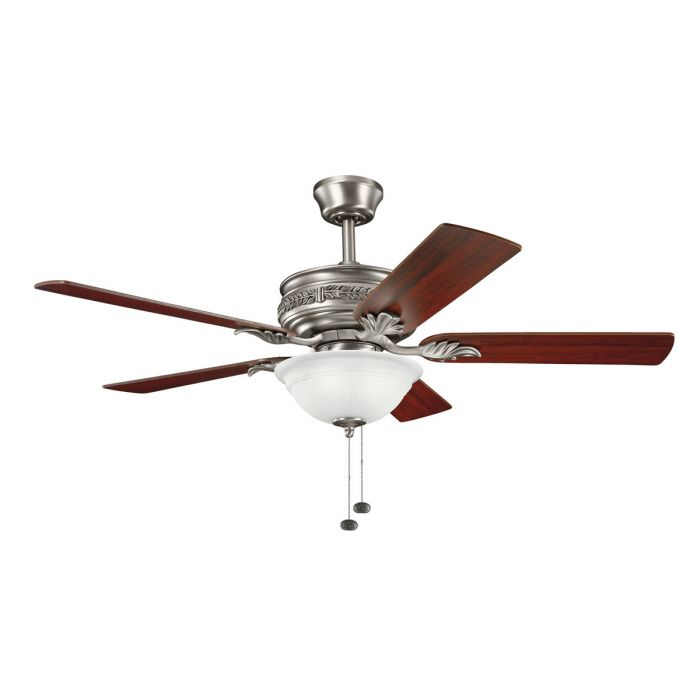 Kichler athens 3 light 52 ceiling fan in antique pewter ceiling fans mozeypictures Choice Image
