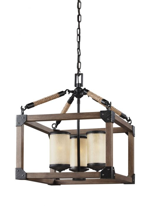 Sea gull lighting dunning 3 light chandelier in stardust cerused oak contemporary chandeliers chandeliers