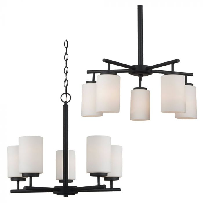 Sea gull lighting oslo 5 light chandelier in blacksmith contemporary chandeliers chandeliers