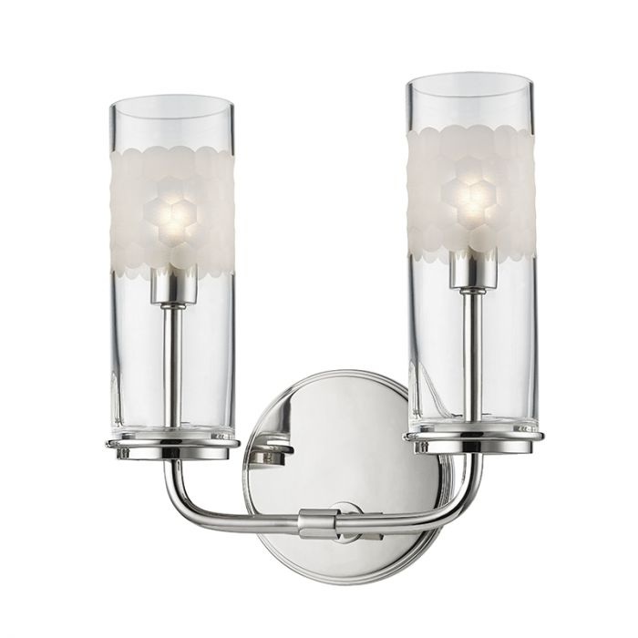 Hudson Valley Wentworth 2-Light Wall Sconce in Polished Nickel - Wall Sconces - Wall Lights  sc 1 st  LightsOnline.com & Hudson Valley Wentworth 2-Light Wall Sconce in Polished Nickel ...