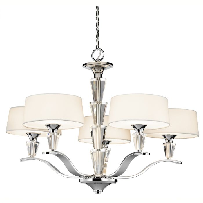 Kichler crystal persuasion 5 light chandelier in chrome kichler 42030ch crystal persuasion 5 light chandelier in chrome skip to the end of the images gallery aloadofball Choice Image