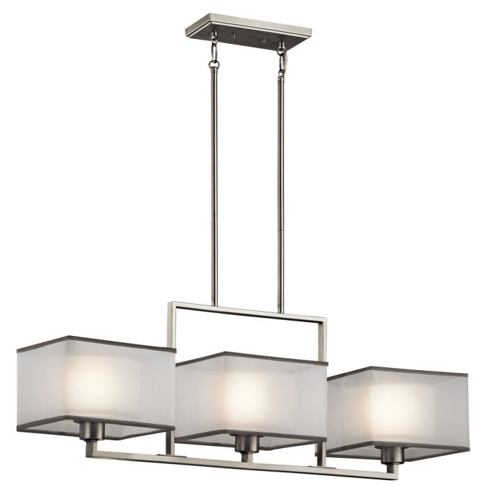 Kichler kailey 3 light chandelier linear single in brushed nickel skip to the beginning of the images gallery mozeypictures Image collections