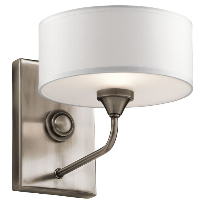 Kichler Lucille 1-Light Wall Bracket in Classic Pewter - Wall Sconces - Wall Lights  sc 1 st  LightsOnline.com & Kichler Lucille 1-Light Wall Bracket in Classic Pewter - Wall ...