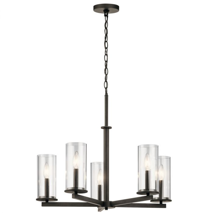 Kichler crosby 2625 5 light clear glass chandelier in olde bronze kichler crosby 2625 5 light clear glass chandelier in olde bronze transitional chandeliers chandeliers aloadofball Choice Image