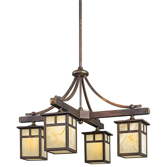 Kichler Alameda 4-light outdoor chandelier - LightsOnline.com