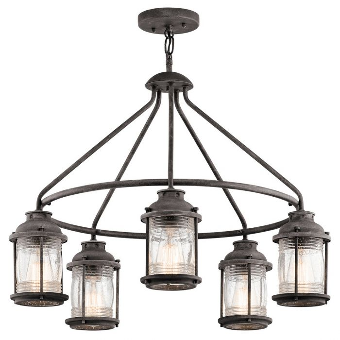 Kichler Ashland Bay 5-light outdoor chandelier - LightsOnline.com