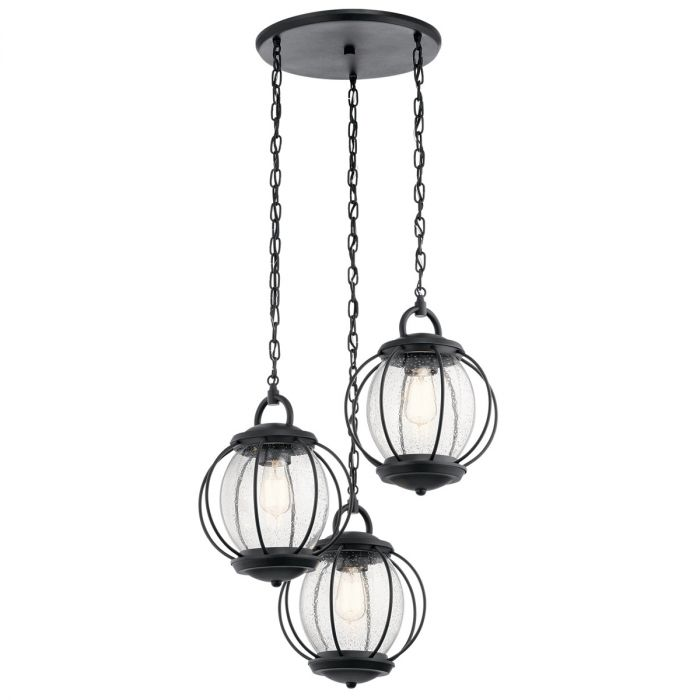 Kichler Vandalia 3-light outdoor chandelier - LightsOnline.com