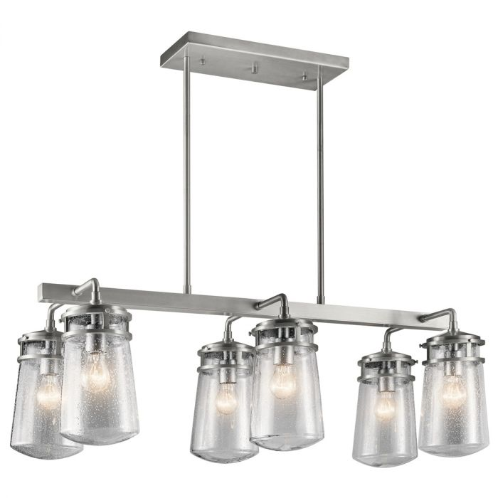 Kichler Lyndon 6-light outdoor chandelier - LightsOnline.com