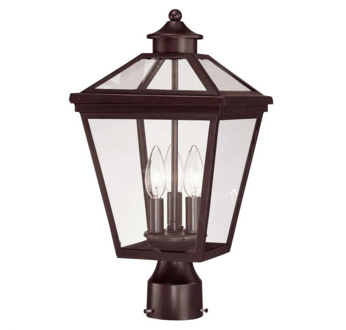 Savoy house ellijay 3 light post lantern in english bronze outdoor savoy house ellijay 3 light post lantern in english bronze outdoor post lights outdoor lights aloadofball Gallery