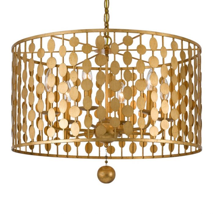 Crystorama layla 2375 6 light chandelier in antique gold crystorama layla 2375 6 light chandelier in antique gold transitional chandeliers chandeliers aloadofball Images