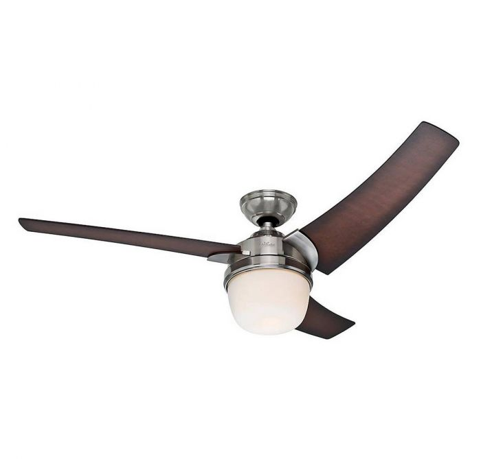 Hunter prestige eurus 54 ceiling fan in brushed nickel indoor skip to the beginning of the images gallery aloadofball Image collections