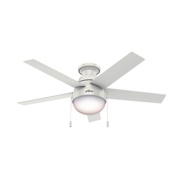 Hunter anslee 46 2 light indoor low profile ceiling fan in white hunter anslee 46 2 light indoor low profile ceiling fan in white indoor ceiling fans ceiling fans mozeypictures Choice Image