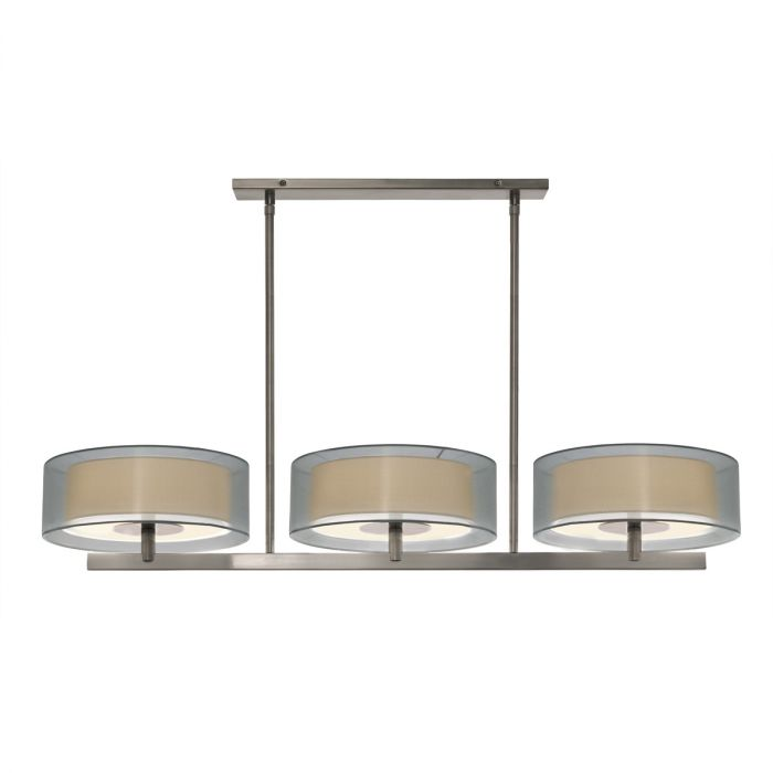 Sonneman Puri 3-Light 48  Bar Pendant in Nickel Finish - Kitchen Island Lights - Ceiling Lights  sc 1 st  LightsOnline.com : sonneman lighting catalog - www.canuckmediamonitor.org