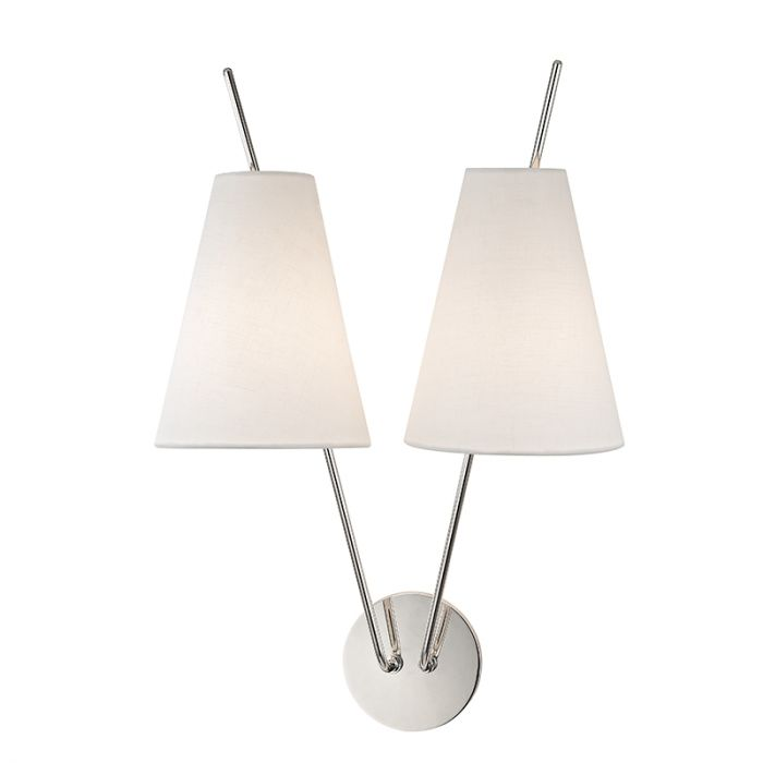 sconce lighting pn polished undefined wall valley amherst light hudson nickel