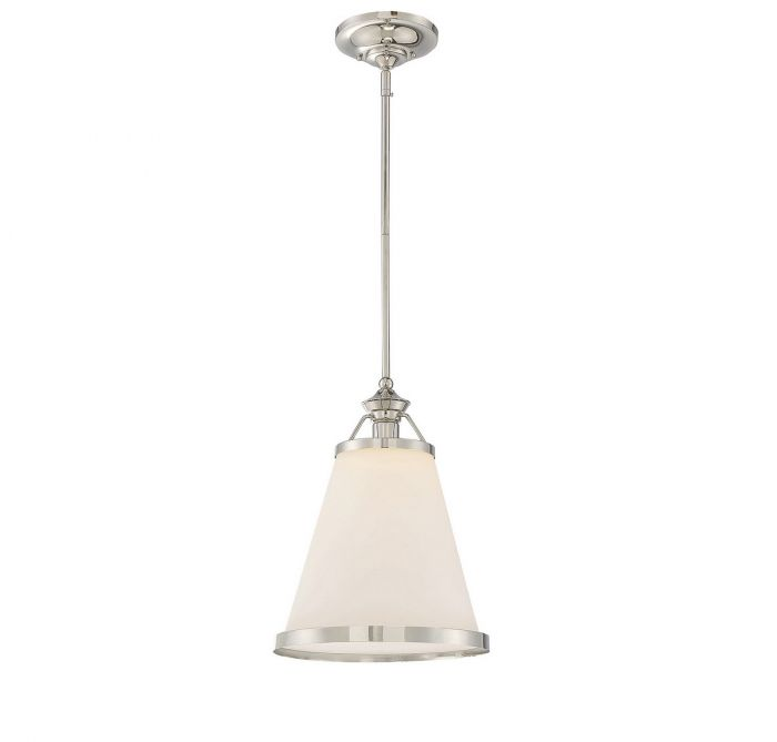 Savoy House Ashmont Pendant In Polished Nickel   Pendant Lights   Ceiling  Lights