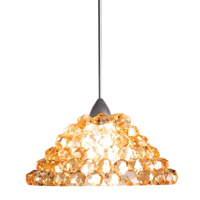 Wac Lighting Gie 1 Light Led Pendant With Canopy In Brushed Nickel Mini Pendants Lights Ceiling