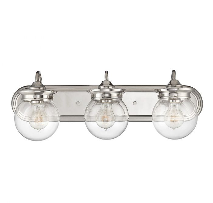 Savoy House Downing 3-Light Vanity Bar in Polished Nickel - Bath Lights
