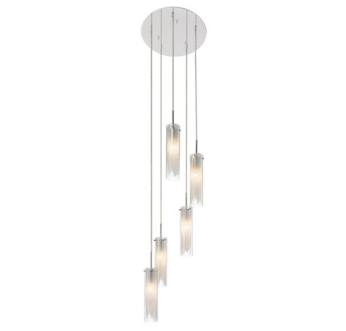 Elan krysalis 5 light spiral pendant in chrome pendant lights elan krysalis 5 light spiral pendant in chrome pendant lights ceiling lights aloadofball Choice Image