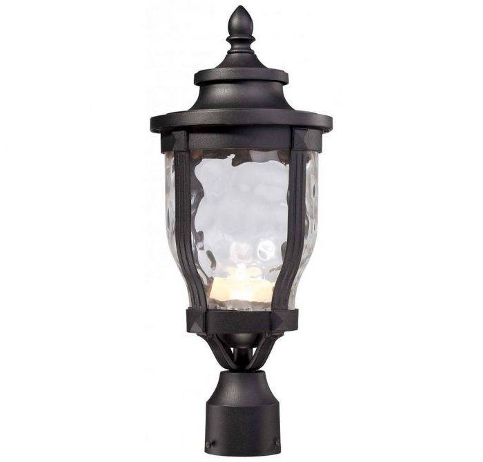 The great outdoors wynterfield led post mount in black outdoor the great outdoors wynterfield led post mount in black outdoor post lights outdoor lights mozeypictures Image collections