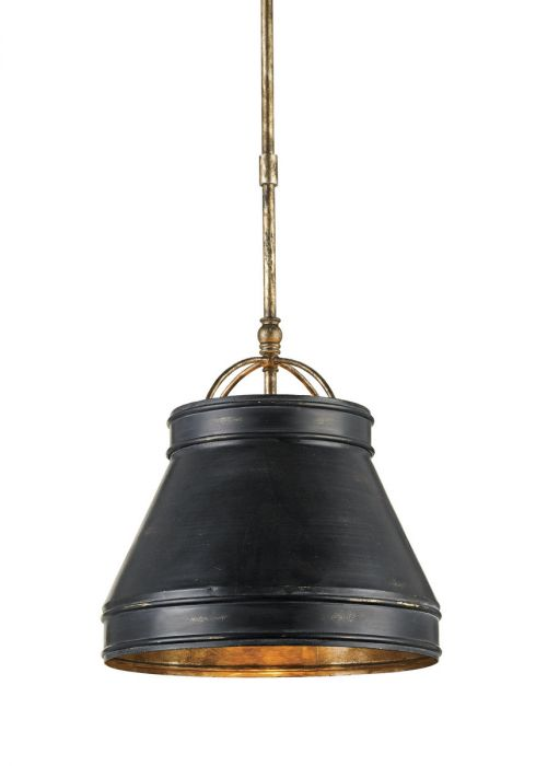 Currey Company Lumley Pendant In French Black Lights Ceiling
