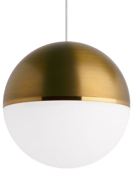 Tech akova led 2700k agedbright brass monorail pendant in satin nickel mozeypictures Image collections