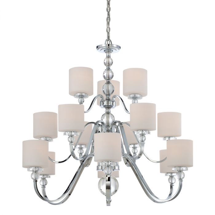 Quoizel Downtown 44 15 Light Foyer Chandelier In Polished Chrome Lights Ceiling