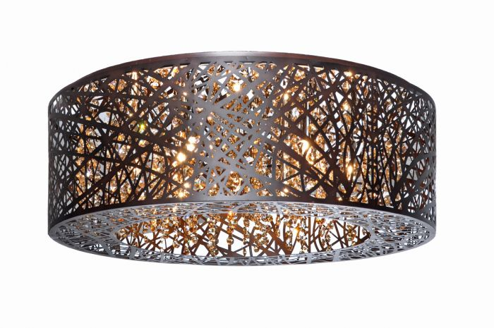 Et2 inca 9 light flush mount in bronze wcognac glass flush mount et2 inca 9 light flush mount in bronze wcognac glass flush mount lights ceiling lights mozeypictures Choice Image