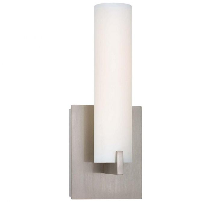 George Kovacs Tube LED 1 Light LED Wall Sconce In Brushed Nickel   Wall  Sconces   Wall Lights